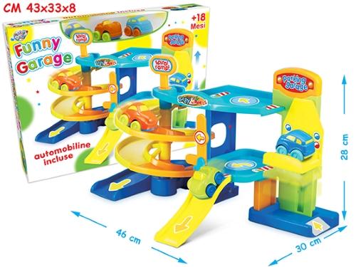 Giocattoli online garage 2 piani 3 auto funny 63748 for 2 piani di garage per auto 3 piani
